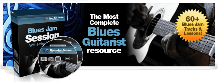 play blues guitar with backing tracks